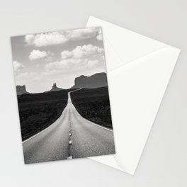 Black & White Monument Valley Desert Road Stationery Cards