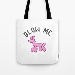 Pink Balloon Dog Tote Bag