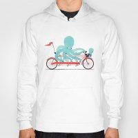 bike Hoodies featuring My Red Bike by Jay Fleck