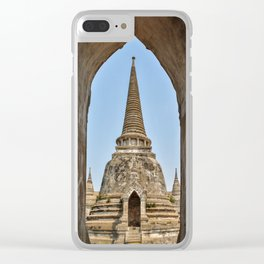 Chedis at Wat Phra Si Sanphet Clear iPhone Case