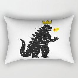 Jean-Michel Basquiat's Crown on Japanese Monster Rectangular Pillow
