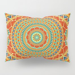 Mandala of Happyness, Health and Wealth Pillow Sham