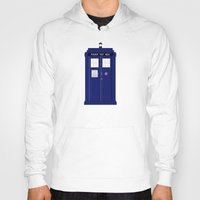 tardis Hoodies featuring TARDIS by fairandbright