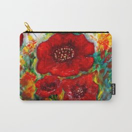 RED POPPIESS Carry-All Pouch