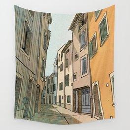 La rue  Wall Tapestry