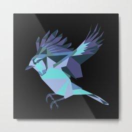 Origami Bird Metal Print