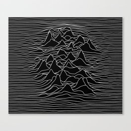 Black and white illustration - sound wave graphic Canvas Print