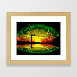 Night Eye Framed Art Print