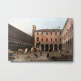 Canaletto - The Campo di Rialto Metal Print