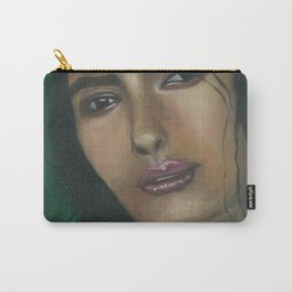 Lady in Green Carry-All Pouch