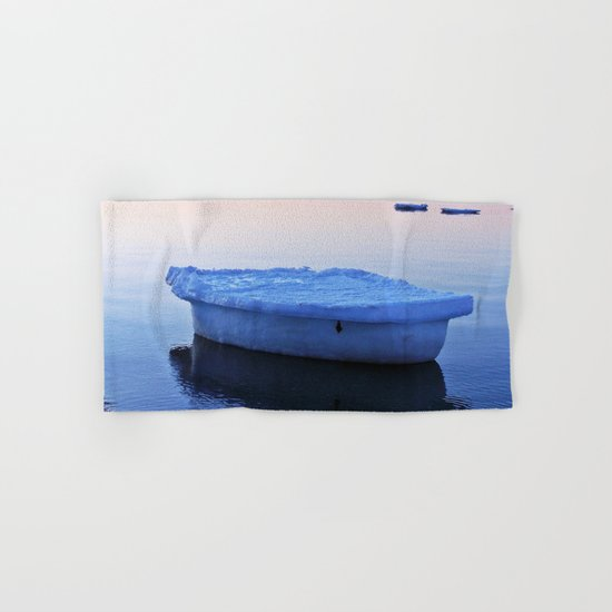 Ice Raft at Dusk on Calm Seas Hand & Bath Towel
