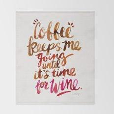 Coffee & Wine – Brown & Magenta Ombré Throw Blanket