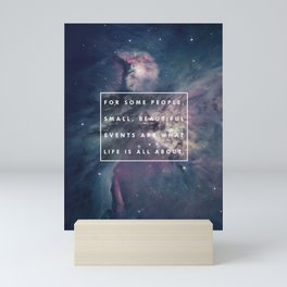 What Life Is All About - Doctor Who Mini Art Print
