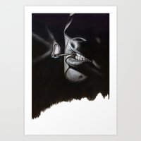 lou reed Art Prints featuring Lou Reed Is Dead by Tom Christophersen Creates