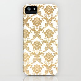 Gold swirls damask #4 iPhone Case