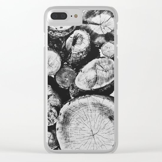 Cut wood II -Scandinavian art Clear iPhone Case