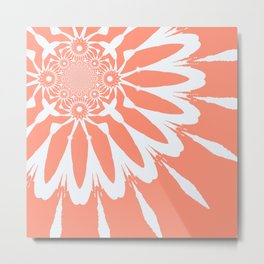 The Modern Flower Peach Metal Print