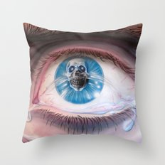 Death in the eyes Throw Pillow