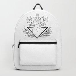 Lunar Rabbit / Jackalope // Black Backpack