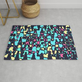 Cosmos, abstract colorful space print Rug