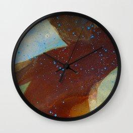 joelarmstrong_rust&gold_man Wall Clock