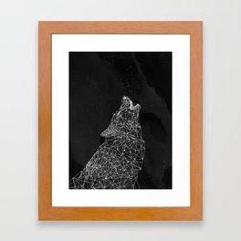 Midnight Wolf Framed Art Print