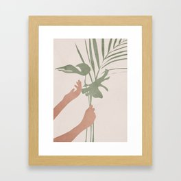 Leafs Framed Art Print