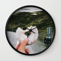 doughnut Wall Clocks featuring Doughnut by A. Serdyuk
