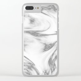 Marble Texture VI Clear iPhone Case