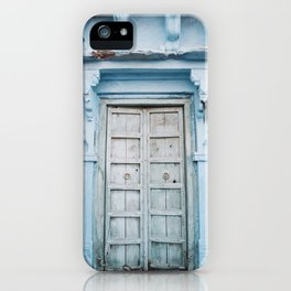 Blue Door in the Blue City Jodhpur in Rajasthan, India | Travel Photography | iPhone Case