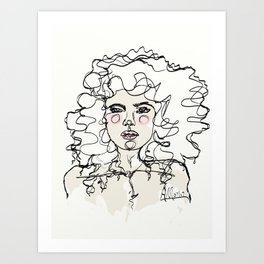 Natural Curls Art Print
