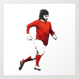 "George Best ""Belfast Boy"" Art Print"