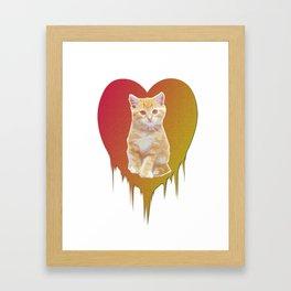 Cat in your heart Framed Art Print