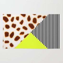 Cheetah Leo stripe and neon Rug