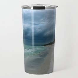 Moody  Sky Over Florida Beach Travel Mug