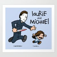 Laurie and Michael Art Print