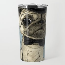 Pug; Gentle Pug (v3) Travel Mug
