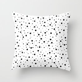 Black and White Polka Dots Throw Pillow