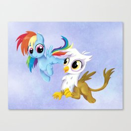 Rainbow Dash and Guilda Canvas Print