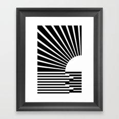 White rays Framed Art Print