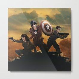 Oh Cap'n my Cap'n Metal Print