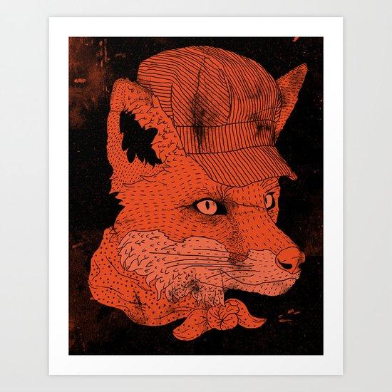Fox Conductor  Art Print