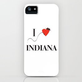 I heart Indiana iPhone Case