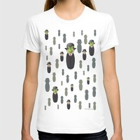 magritte T-shirts featuring Kokeshi Magritte pattern by Pendientera