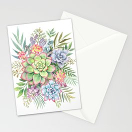 Watercolor Succulents #51 Stationery Cards