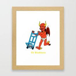 Ahí va el D iablo Framed Art Print