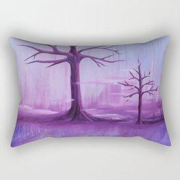 Purple Winter Rectangular Pillow
