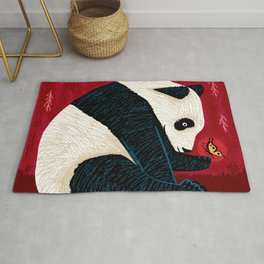 The Panda and the Butterfly Rug