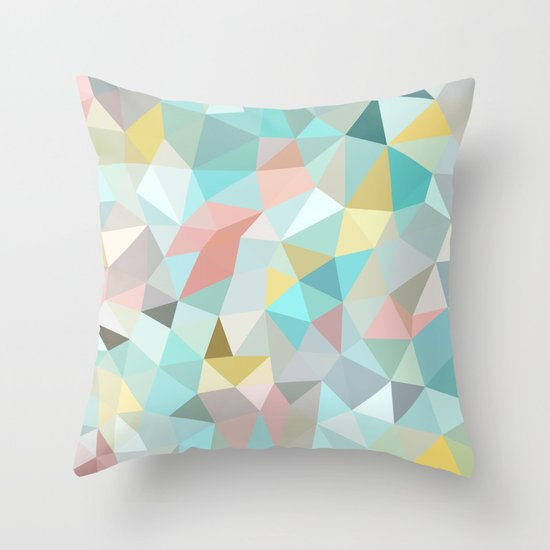 Pastel Tris Throw Pillow