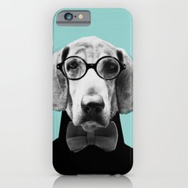 Mr Italian Bloodhound the Hipster iPhone Case